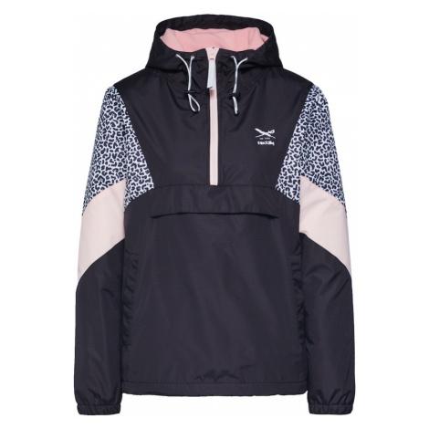 Iriedaily Prechodná bunda 'Blotchy Breaker'  biela / pastelovo ružová / čierna