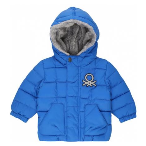 UNITED COLORS OF BENETTON Zimná bunda  modrá / strieborná / čierna