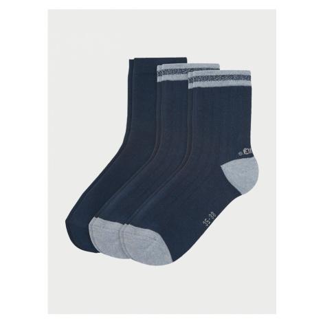 Ponožky s.Oliver S20549-5900 - 3 Pack Farebná