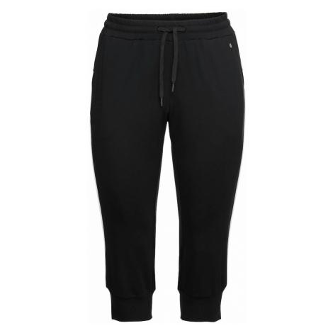 SHEEGO Športové nohavice  čierna / biela