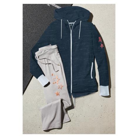 Mikinová bunda s kapucňou, dlhý rukáv bonprix