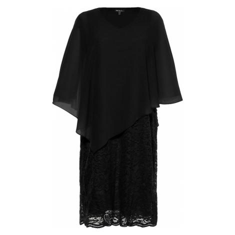Ulla Popken Kokteilové šaty  čierna