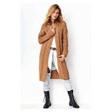 Makadamia Woman's Sweater MAK S95 Camel