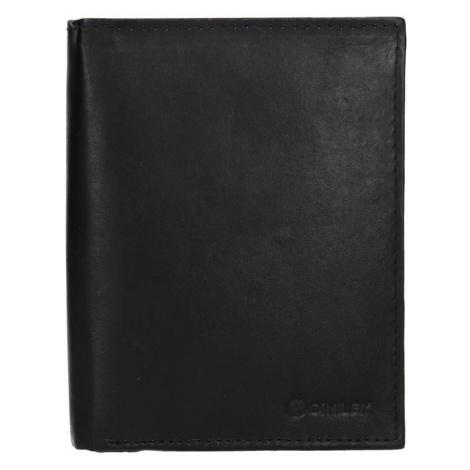 Pánska kožená peňaženka Diviley Levin - čierna