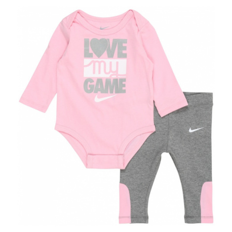 Nike Sportswear Set 'LOVE MY GAME'  ružová / sivá