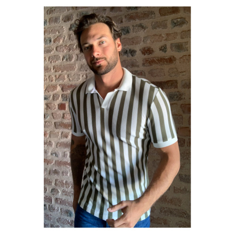 Trendyol Navy Men's Polo Collar T-shirt Khaki
