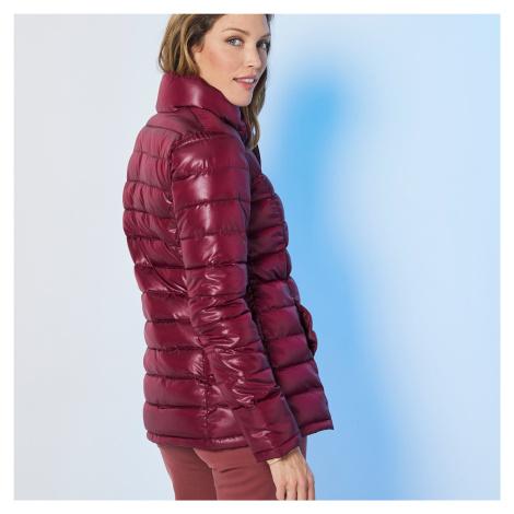 Blancheporte Jednofarebná prešívaná bunda, krátka bordó