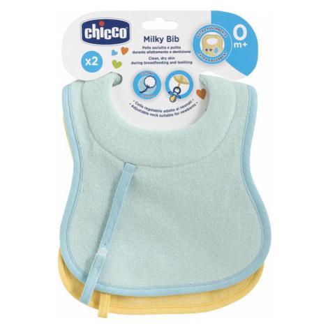 CHICCO Podbradník bavlnený dojčenský, 2 ks – dievča