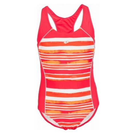 Lotto LANIE červená - Dievčenské jednodielne plavky