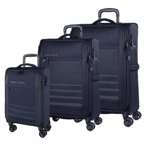 March Sada cestovných kufrov Sigmatic S + M + L, tmavo modrá