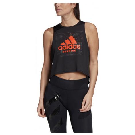 Dámsky Top Adidas Fast Gfx Crop Čierny