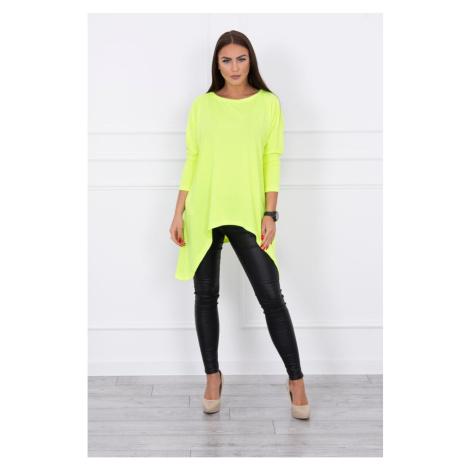 Blouse oversize yellow neon