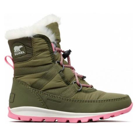 Sorel YOUTH WHITNEY SHORT tmavo zelená - Detská zimná obuv