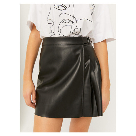 Čierna koženková sukne TALLY WEiJL