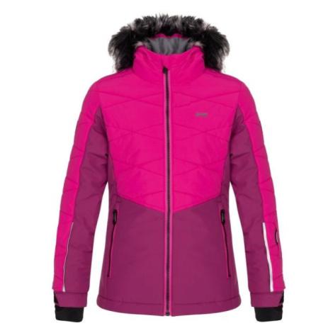 Loap OKUMA ružová - Detská lyžiarska bunda