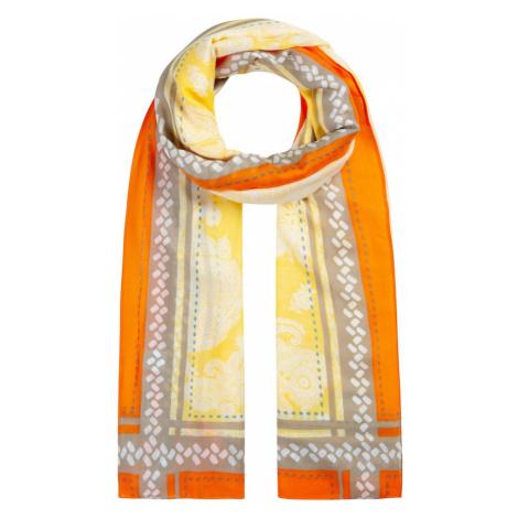 CODELLO Látkové rúško 'SAFARI'  žltá / oranžová / biela / sivá / modrosivá