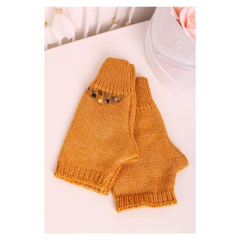 Žlté rukavice bez prstov Talya