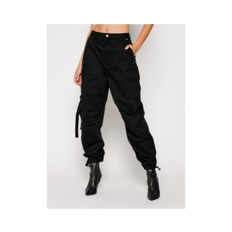 Pepe Jeans Bavlnené nohavice DUA LIPA Shadow PL211426 Čierna Regular Fit