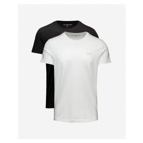 Calvin Klein Tričko 2 ks Čierna Biela