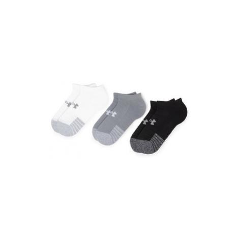 Under Armour Súprava 3 párov kotníkových ponožiek unisex Heatgear No Show Sock 1346755-035 Sivá