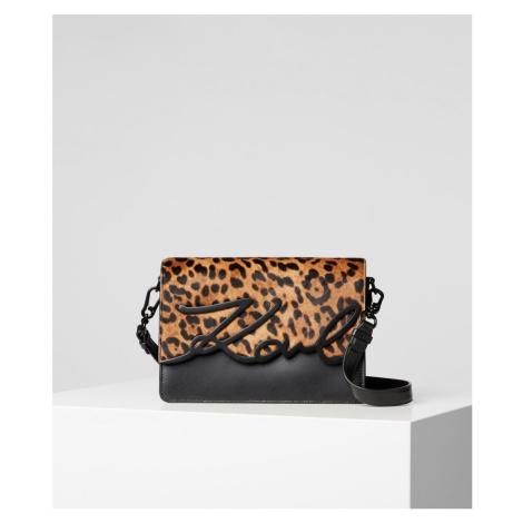 Kabelka Karl Lagerfeld K/Signature Leopard Shlderbag - Rôznofarebná