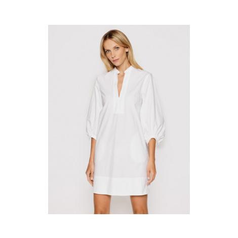 Marella Košeľové šaty Stuarda 32212612 Biela Regular Fit