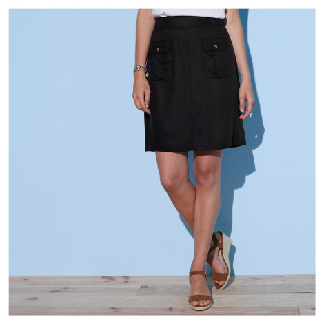 Blancheporte Sukňa s našitými vreckami čierna