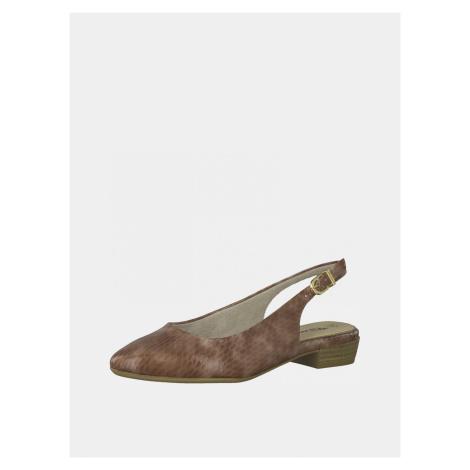 Tamaris hnedé balerínky