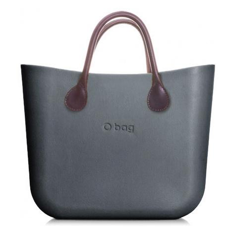 Obag mini grafite s krátkymi rúčkami koženka hnedá O bag