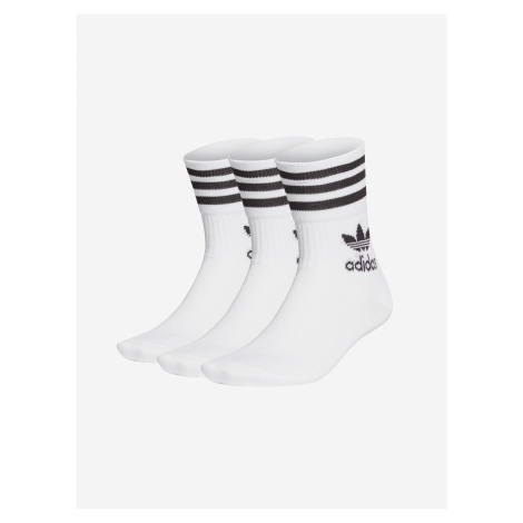 Ponožky 3 páry adidas Originals Biela