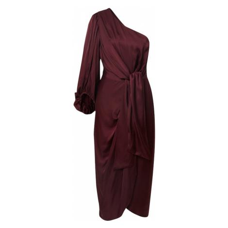 By Malina Večerné šaty 'Leontine'  vínovo červená