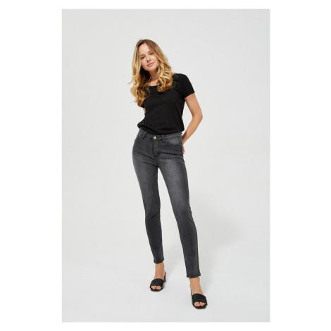 Moodo čierno-sivé džínsy