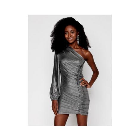 Pinko Koktejlové šaty Magnitudine 20202 PBK2 1B14NM 902.2 Strieborná Slim Fit