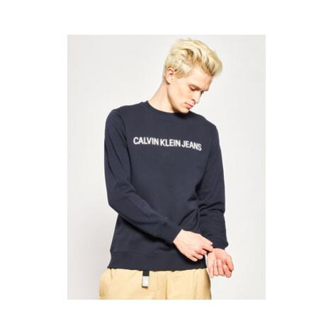 Calvin Klein Jeans Mikina J30J307757402 Tmavomodrá Regular Fit