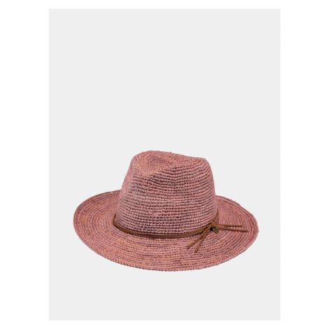 Ružový dámsky slamený klobúk BARTS