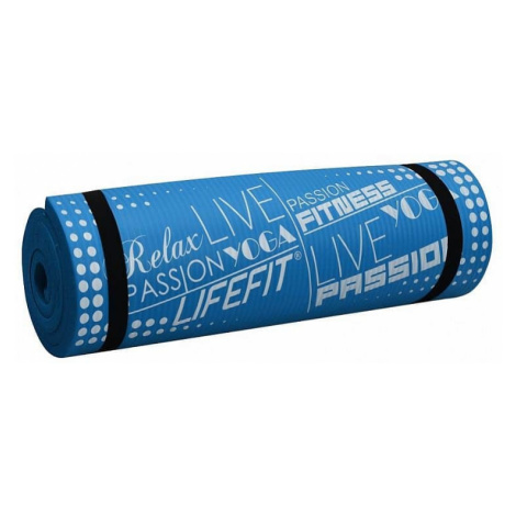 Podložka LIFEFIT YOGA MAT EXKLUZIV PLUS, 180x58x1,5cm, modrá