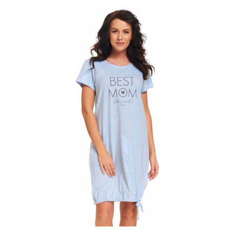 Materská nočná košeľa Best mom modrá