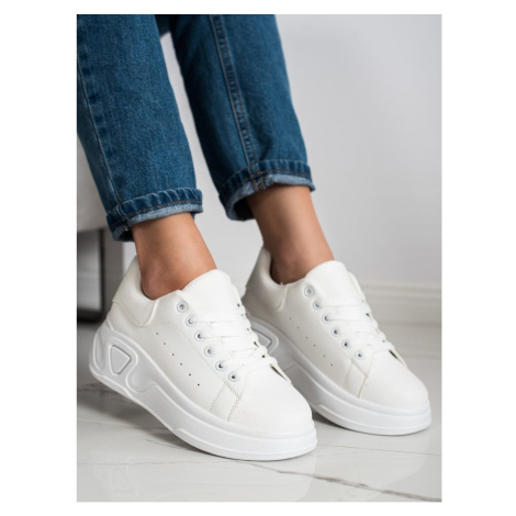 SHELOVET STYLISH ECO LEATHER SNEAKERS