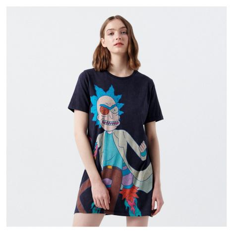 Cropp - Tričkové šaty Rick and Morty - Šedá