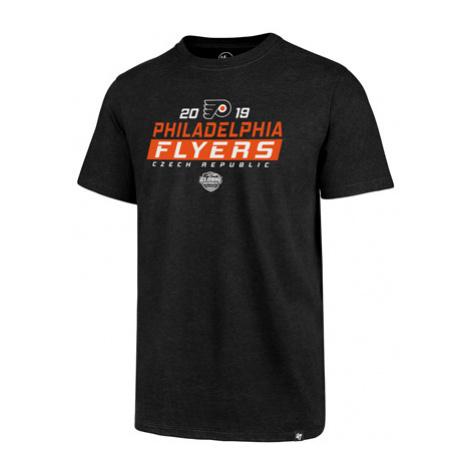 47 Brand Club Tee Nhl Philadelphia Flyers Čierne Gs19