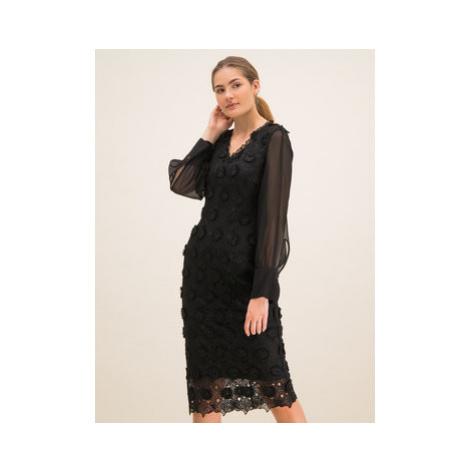 Laurèl Koktejlové šaty 11001 Čierna Regular Fit Laurel