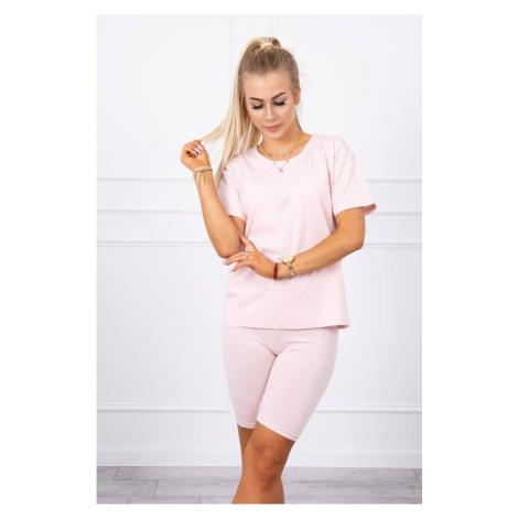 Set of top+leggings powdered pink