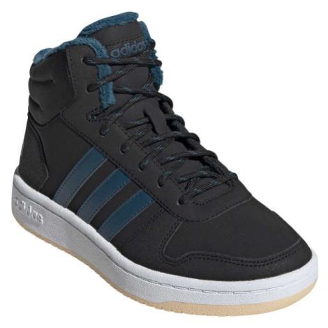 adidas HOOPS MID 2.0 K tmavo modrá - Detská zimná obuv