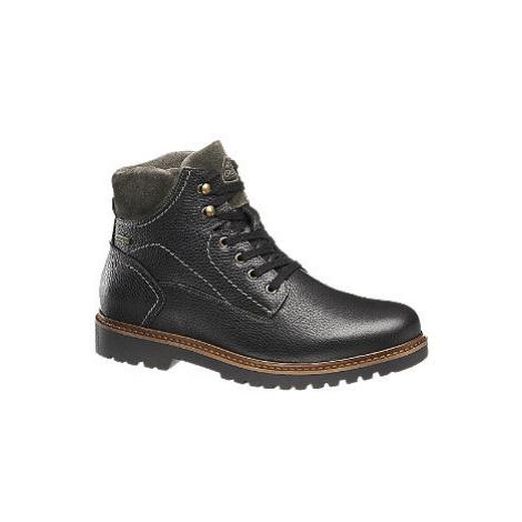 Čierna kožená komfortná členková obuv Gallus s TEX membránou