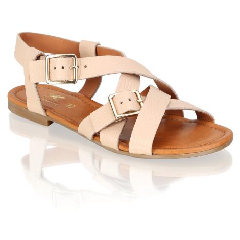 Pat Calvin hladká koža Klasické sandále béžová