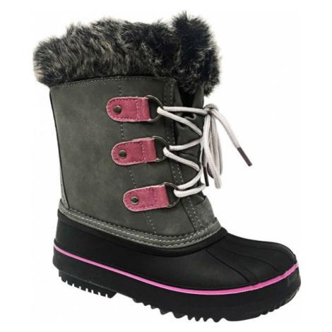 Lewro CEDAR šedá - Detská zimná obuv