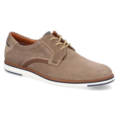 Pat Calvin velúr Športová šnurovacia obuv hnedá