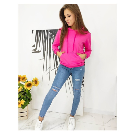 MODIVOS women's sweatshirt fuchsia BY0587 DStreet