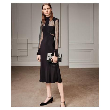 Šaty Karl Lagerfeld Lace & Silk Midi Dress