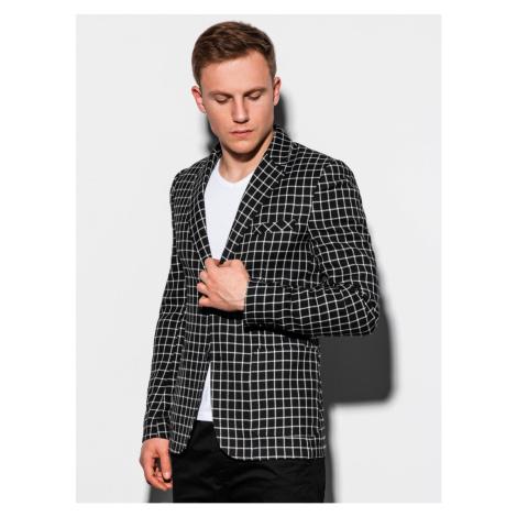 Ombre Clothing Men's casual blazer jacket M161 Black